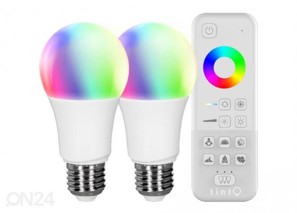 """LED lamppu """"valkoinen + värillinen"""" + kaukosäädin"""
