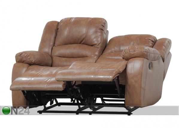 2-ist sohva RELAX2, kullanruskea nahka