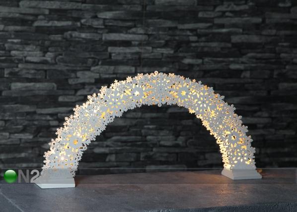 Joulukoriste LED valoilla SNOW