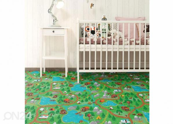 Lastenhuoneen matto METSÄMATKA 133x133 cm
