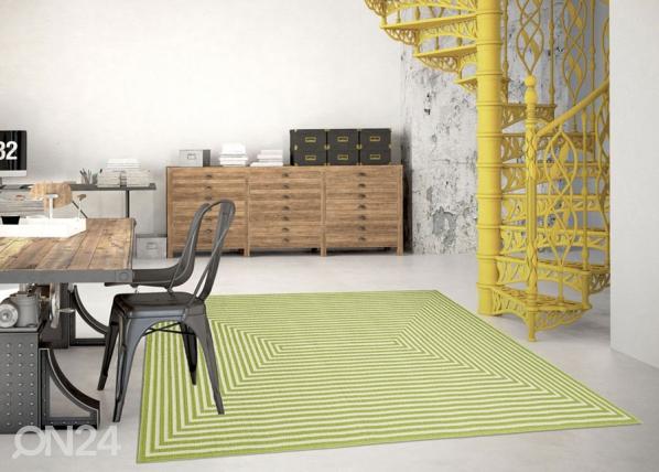 Matto Braid Green 133x190 cm