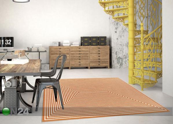 Matto Braid Orange 133x190 cm