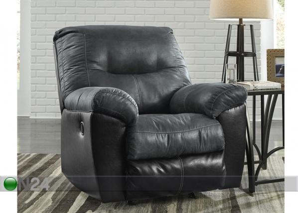 Nojatuoli jalkatukimekanismilla Mirtel, tummanharmaa/musta
