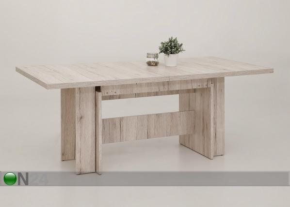 Jatkettava ruokapöytä Lia I 90x180-340 cm
