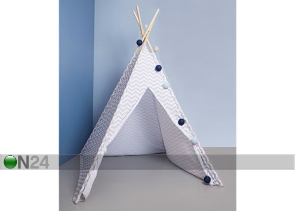 Lasten raidallinen tiipii teltta