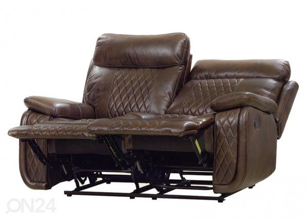 2-istuttava sohva Relax23, tummanruskea