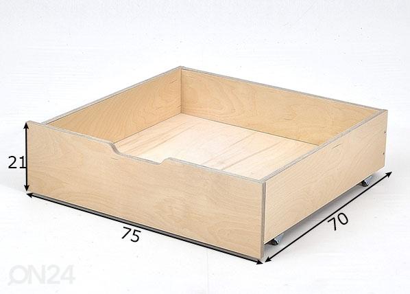 Vuodevaatelaatikko Jerwen 75x70x21 cm