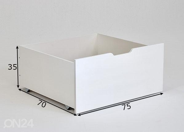 Vuodevaatelaatikko Jerwen 75x70x35 cm