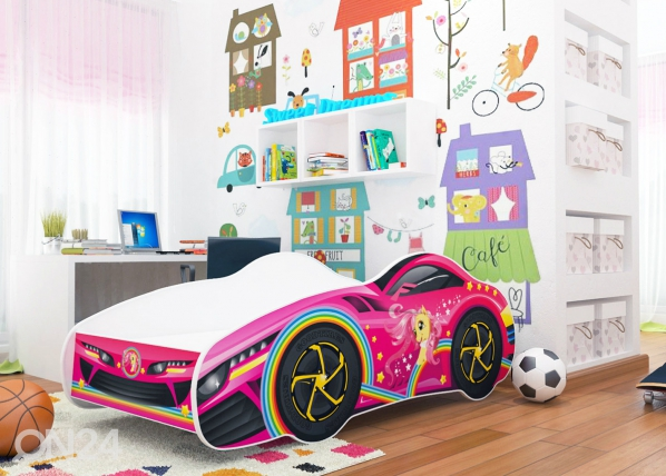 Lasten sänky Girl Car 70x140 cm