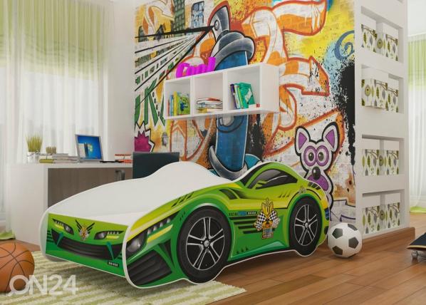 Lasten sänky Green Car 70x140 cm