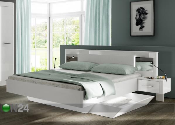 Sänky Cristal 180x200 cm + yöpöydät