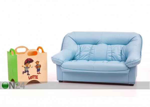Lasten sohva Mini Spencer + lelulaatikko Lotte