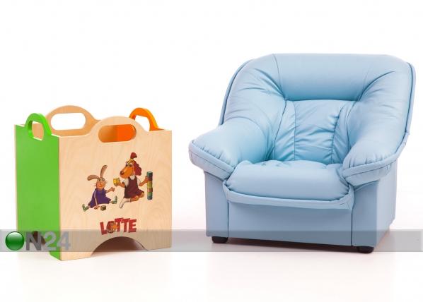 Lasten nojatuoli Mini Spencer + lelulaatikko Lotte