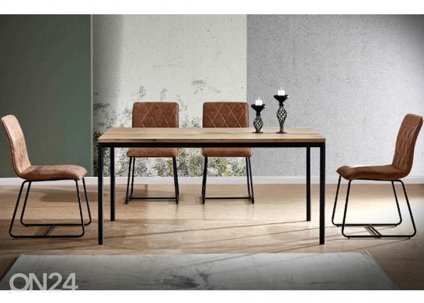 Ruokapöytä Mozes 160x90 cm