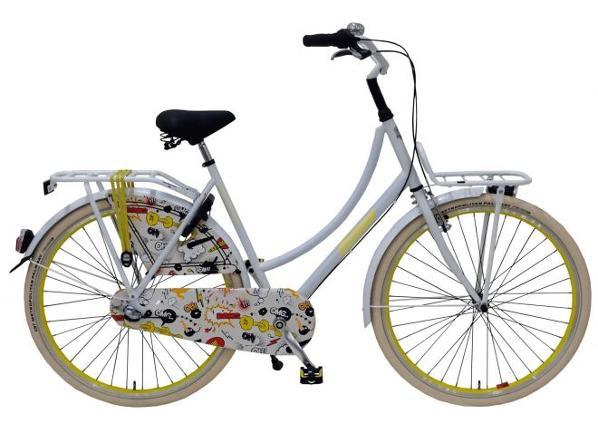 Aikuisten kaupunkipyörä SALUTONI Cartoon 28 tuumaa 56 cm