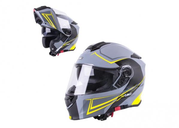 Moottoripyöräkypärä Flip-Up W-TEC