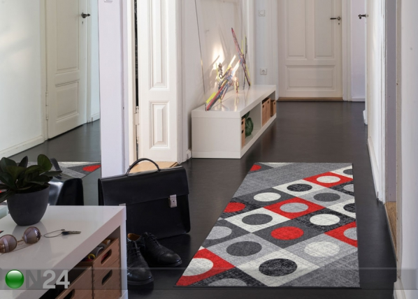 Matto Boules red 75x190 cm