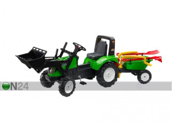 Traktori Garden Master peräkärryllä