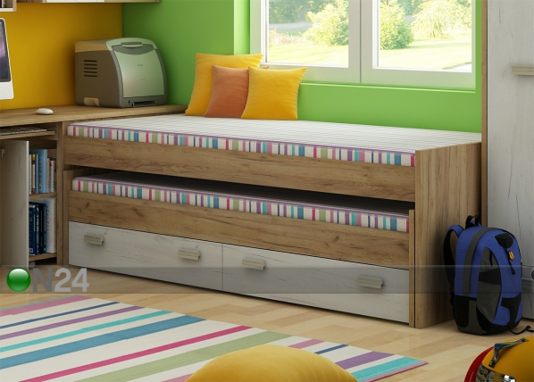 Lasten sänkysarja 2-le 90x200 cm