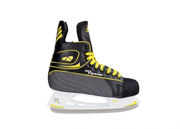 Lasten jääkiekkoluistimet Nils Extreme musta-keltainen 41 NH8556