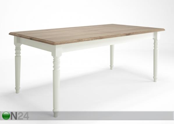 Jatkettava ruokapöytä Cottage 180-260x100 cm