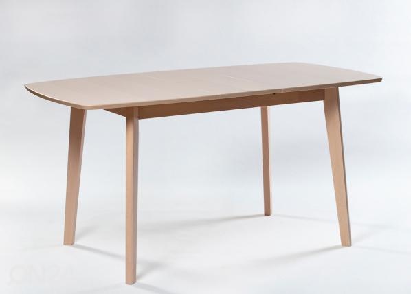 Jatkettava ruokapöytä Bari 80x120-150 cm, valkoinen pyökki