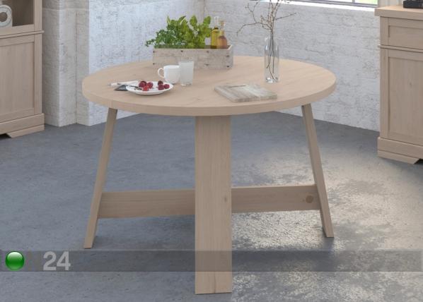 Jatkettava ruokapöytä Vanille 120-156x120 cm