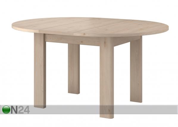 Jatkettava ruokapöytä Portland 120-156x120 cm