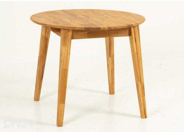 Jatkettava ruokapöytä 90-120x90 cm