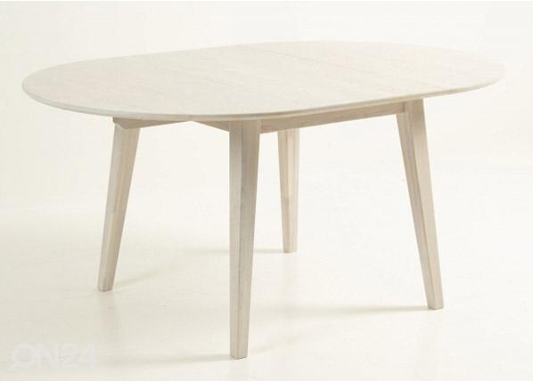 Jatkettava ruokapöytä 110/160x100 cm