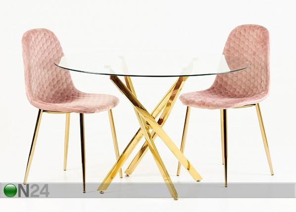 Lasipöytä Ø 110 cm