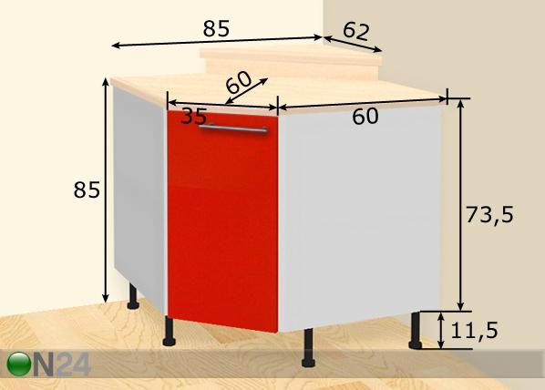 Nurkkakaappi AR 25464  ON24 Sisustustavaratalo