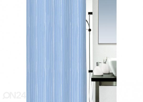 Kankainen suihkuverho RAYA, sininen 180x200 cm