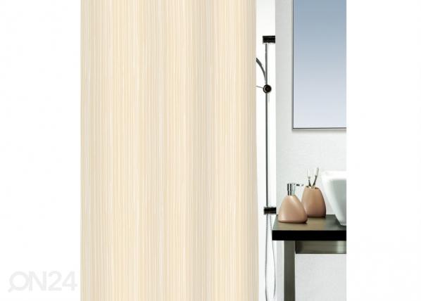 Kangas-suihkuverho RAYA, beige 180x200 cm