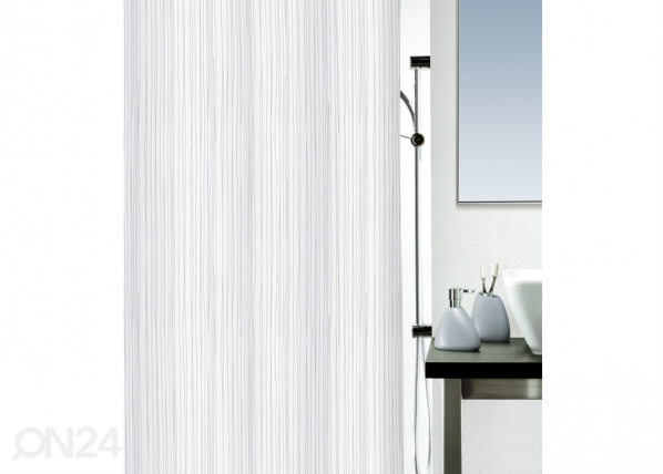 Kankainen suihkuverho RAYA, valkoinen 180x200 cm