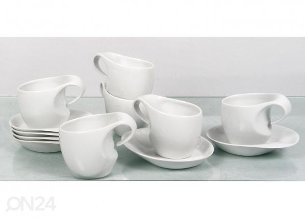 Kahvikuppi ja lautanen FUTURE 0,25 l, 6 kpl