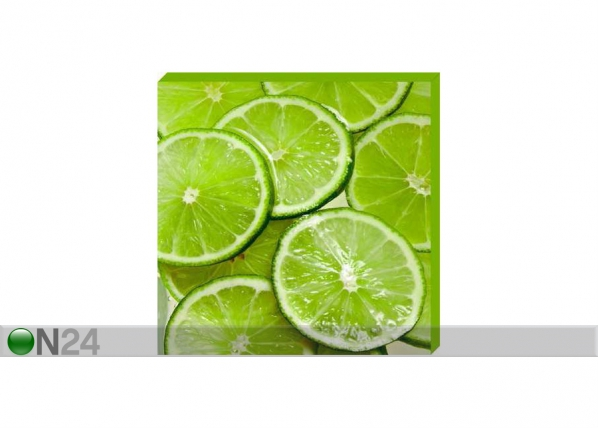 Taulu CANVAS - SLICED LIMES 50x50 cm