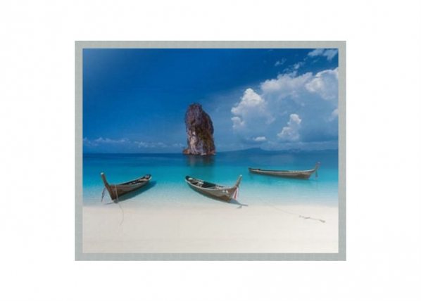 Taulu MODERN - BEACH AND BOAT 40x50 cm