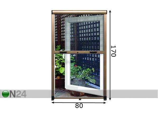 Hyönteissuoja-rullaverho ikkunan raameihin FS-38295 - ON24 Sisustustavaratalo