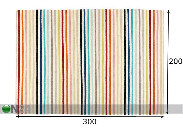 Keittiön matto RAINBOW 200×300 cm AA 42463  ON24