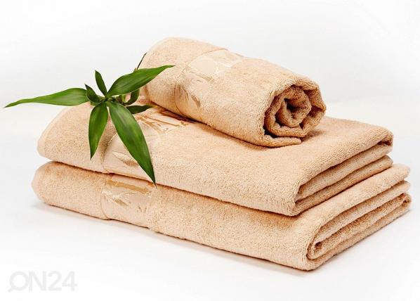 Bambupyyheliina beige 50x90 cm