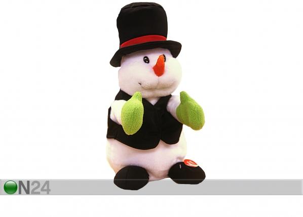 Joulukoriste taputtava lumiukko