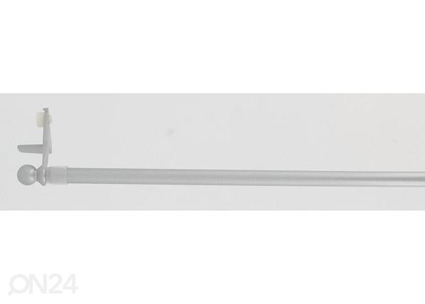 Ikkunan verhotanko 30-50 cm, hopea