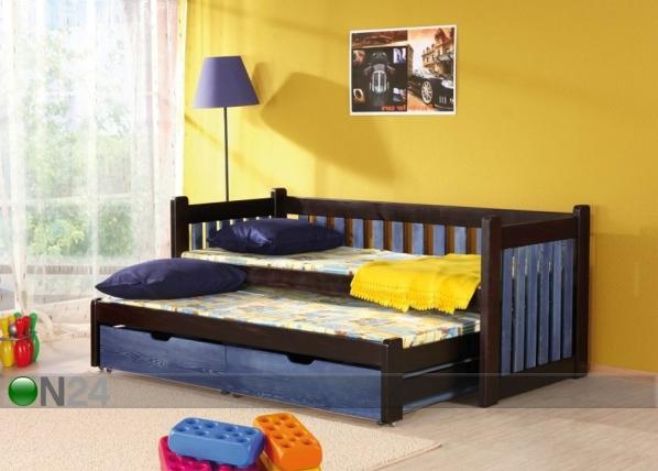 Lasten sänkysarja 2-osainen, mänty 80x180 cm