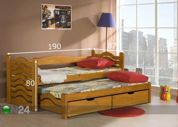 Lasten sänkysarja 2-osainen MIKO, mänty 80x180 cm