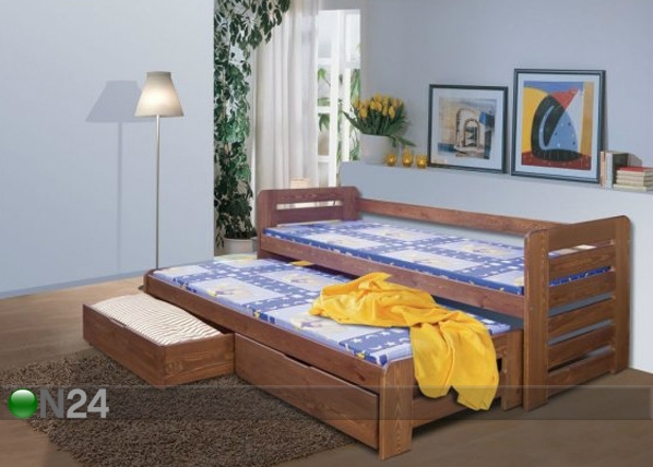 Lasten sänkysarja 2-osainen TOM, mänty 80x180 cm