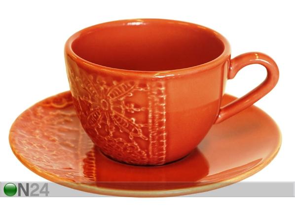 Kahvikupit ja alustat PITSI, 6 kpl