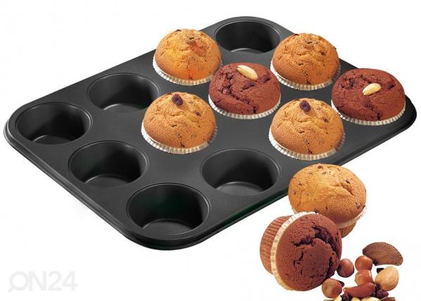 Muffinsivuoka BLANCK METALLIC, 12 kuppia
