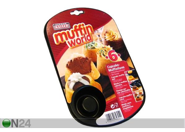 Muffinsivuoka, 6 kuppia