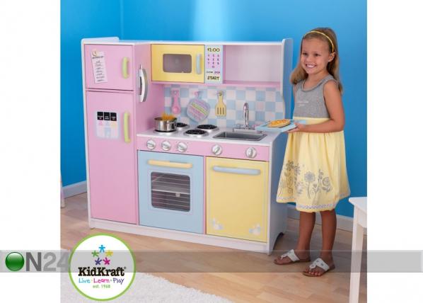 Suuri pastellisävyinen leikkikeittiö KidKraft AU 56427  ON24 Lasten maailma